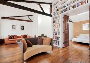 cool and artistic Home Design with cozy study room in London