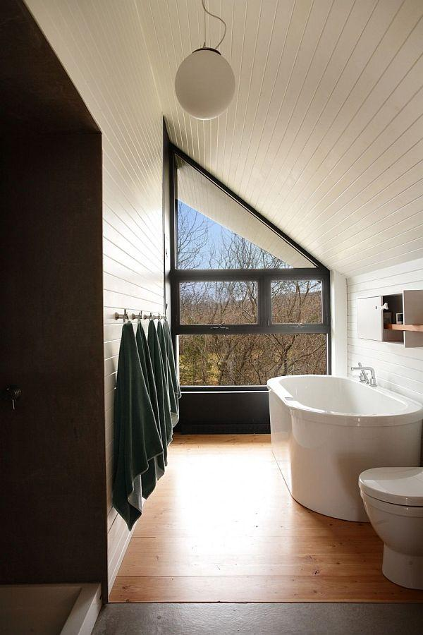 simply bathroom design on Country Home in Canada