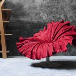 Awesome red Blossom Flower Chair by Kenneth Cobonpuere