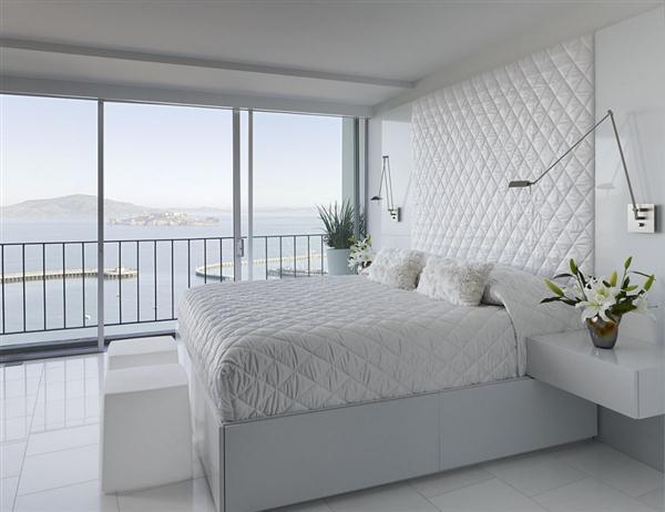 Contemporary white bedroom Design Ideas
