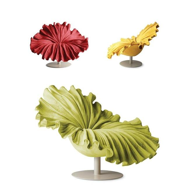 Cool and Unique Blossom Flower Chair Design by Kenneth Cobonpuere