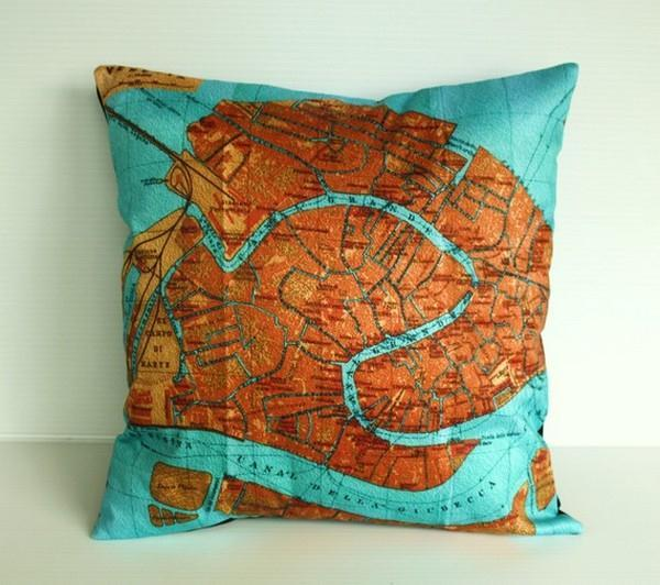 Cute and Delightful Map Pillows by Bearded Pigeon