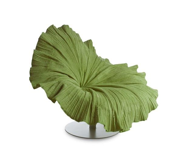 Cute green Blossom Flower Chair by Kenneth Cobonpuere