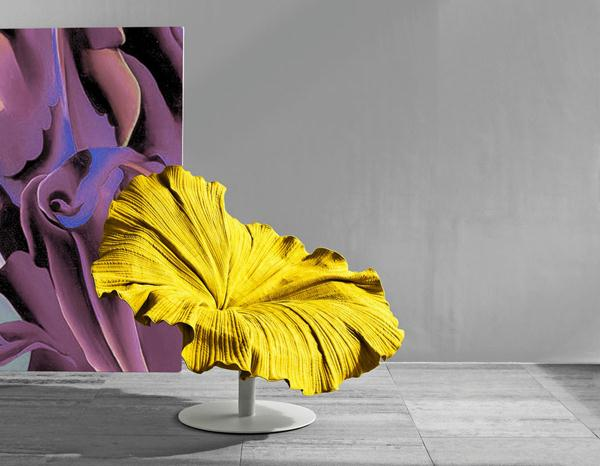 Delightful Yellow Blossom Flower Chair Design by Kenneth Cobonpuere