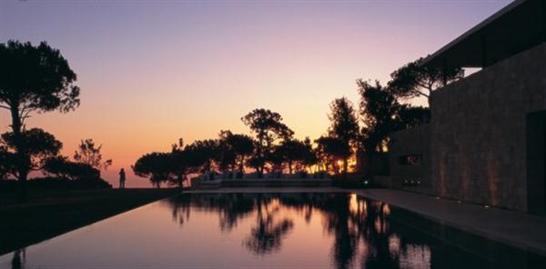 Elegant Home Design with Mediterranean Style sunset view
