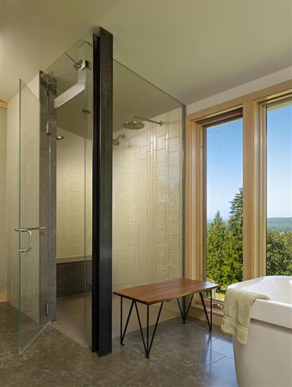 Elegant Improvement Farmhouse Interior Design Ideas shower bath