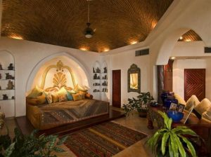 Elegant and Luxurious Moroccan Style Home Design Master Bedroom