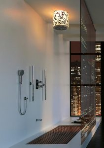 Elegant and Modern Showers Bathroom Decor Appliance at apartment