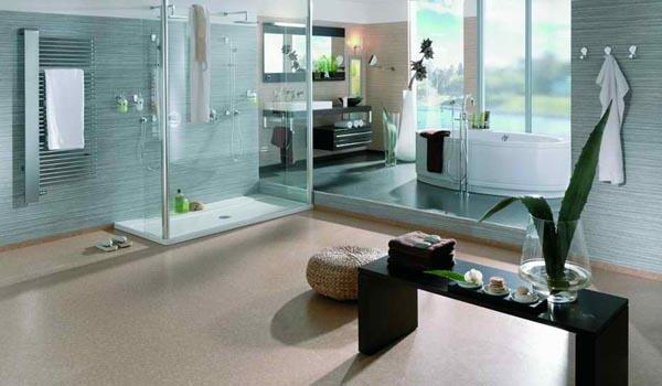 Elegant and Modern Showers Bathroom Decor Appliance with blue ocean themes