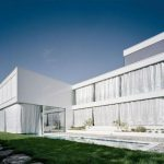 Elegant and Modern White Germany House Design Front View