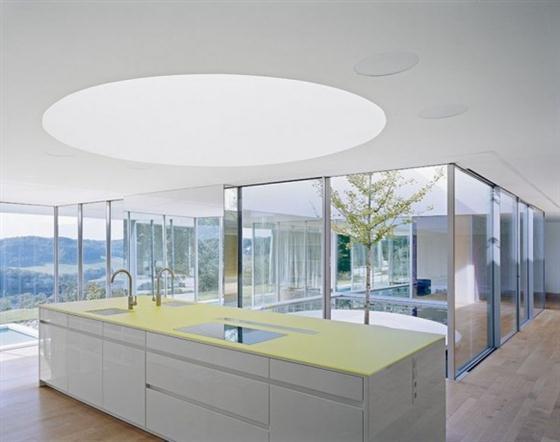 Elegant and Modern White Germany House Design Kitchen Design