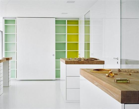 Elegant and Modern White Germany House Design Kitchen cabinet
