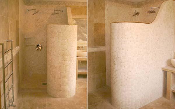 Elegant and Modern beige Showers Bathroom Decor Appliance