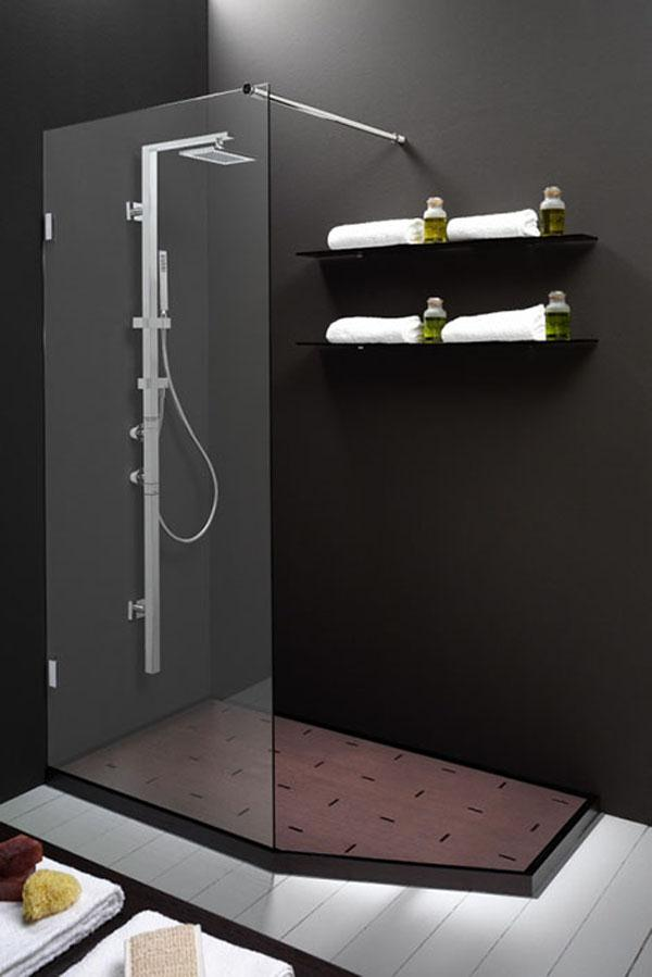 Elegant and Modern black Showers Bathroom Decor Appliance