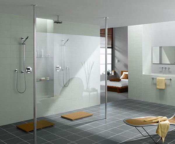 Elegant and Modern white Showers Bathroom Decor Appliance
