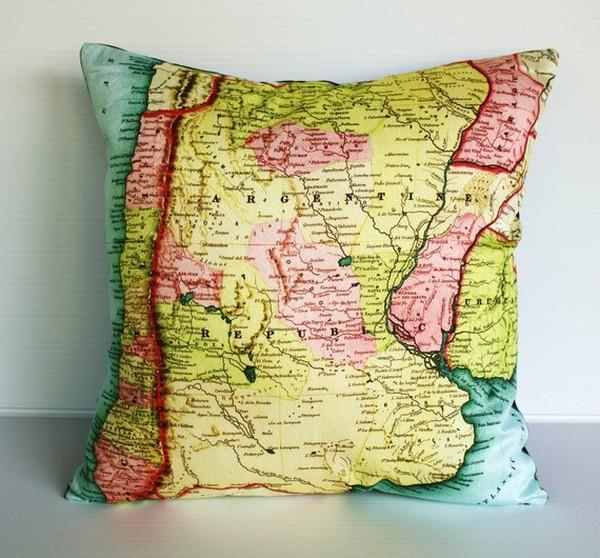 Funny Argentina Map Pillows by Bearded Pigeon