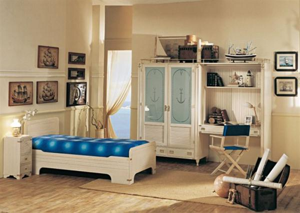 Funny and Attractive Sea Themes Kids Bedrooms by Caroti white