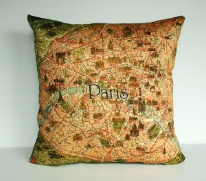 Funny and Delightful Paris Map Pillows by Bearded Pigeon