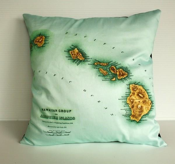 Funny and Delightful hawaiian Pillows by Bearded Pigeon