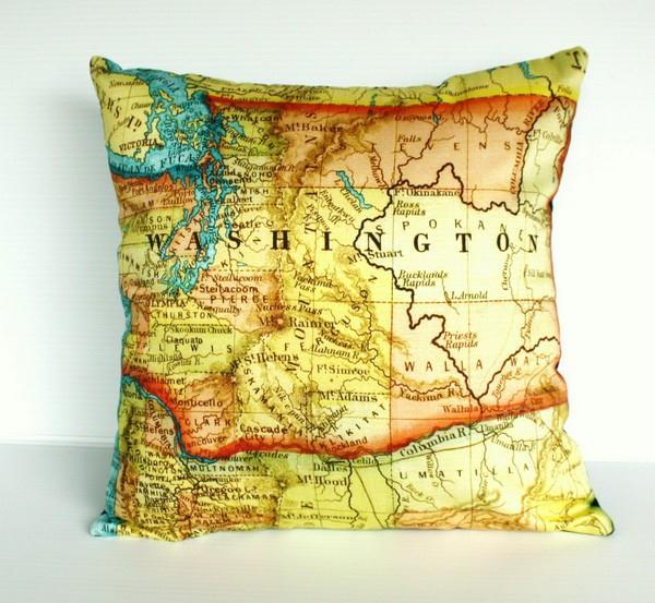 Funny and Delightful washington Pillows by Bearded Pigeon