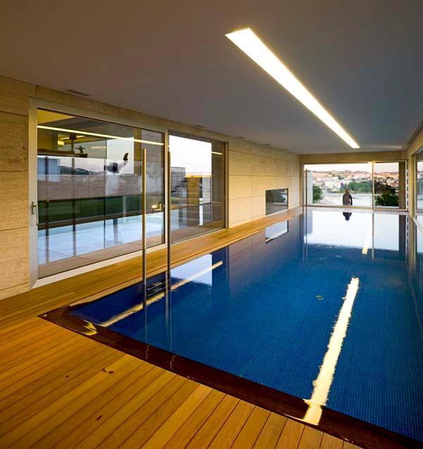 Futuristic Home Design Inspiration from A ceros Galicia indoor pool
