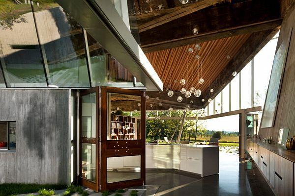 Futuristic Home Design with Many Amazing Pendant Lamps interior decor
