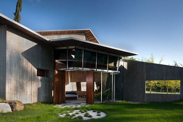 Futuristic Home Design with unique garden