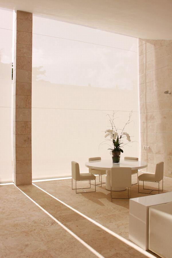 Futuristic White Beach Home in Dominican Republic coffee table decor