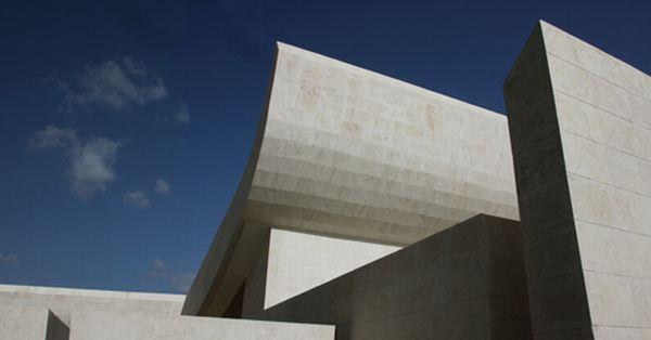 Futuristic White Beach Home in Dominican Republic roof design