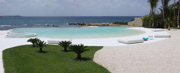 Futuristic White Beach Home in Dominican Republic swimming pool
