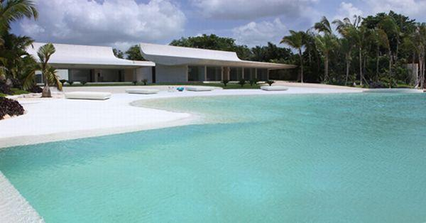 Futuristic White Beach Home in Dominican Republic with amazing pool