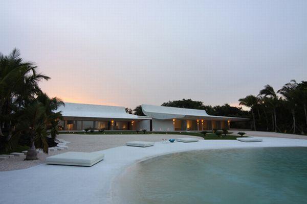 Futuristic White dream Beach Home in Dominican Republic