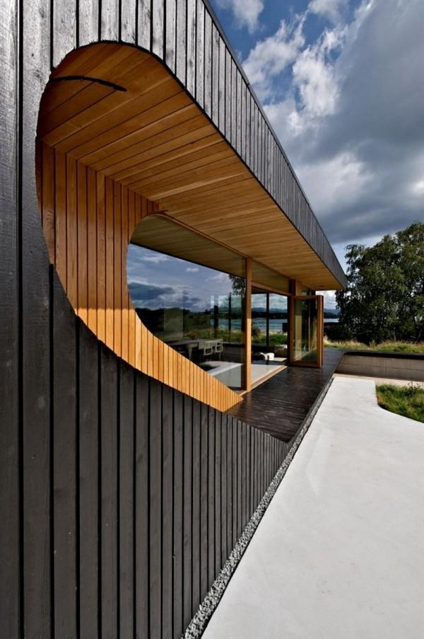 Futuristic Wooden Dalene Cabin Home Design by Tommie Wilhelmsen