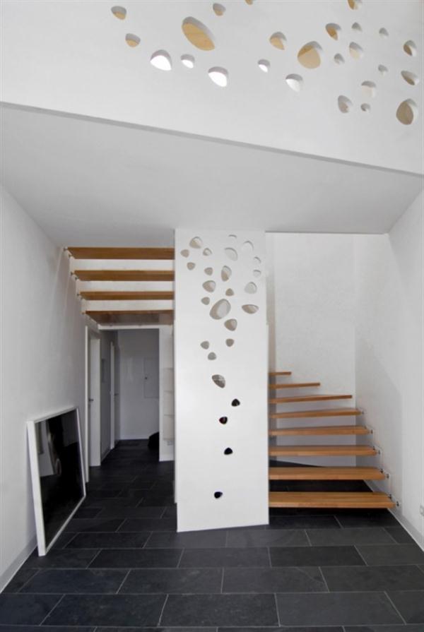 Futuristic Wooden Home Design Ideas with white interior