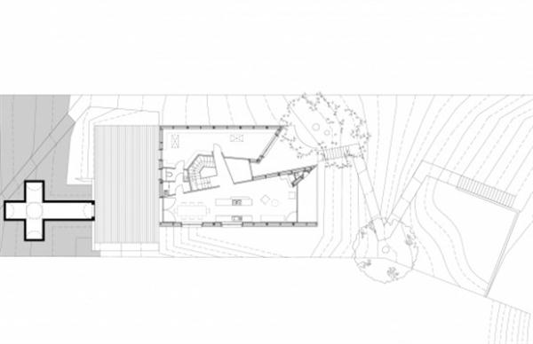 Futuristic Wooden Home Design siteplan