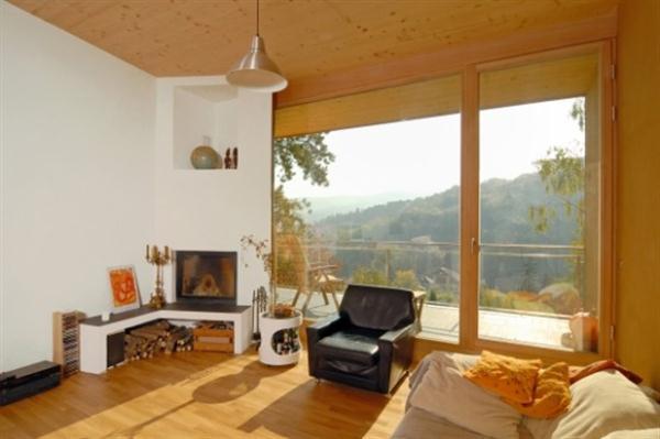 Futuristic Wooden Home livingroom Design Ideas from Vienna