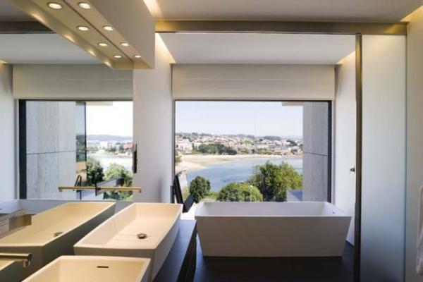 Futuristic and Bright Home Design Inspiration from A ceros Galicia bathroom
