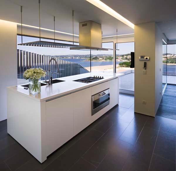 Futuristic and Bright Home Design Inspiration from A ceros Galicia kitchen