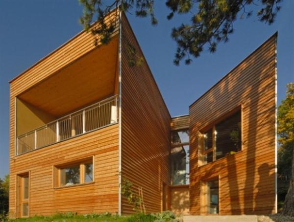 Futuristic and bright Wooden Home Design Ideas from Vienna