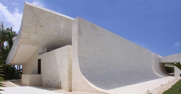 Futuristic and unusual White Beach Home in Dominican Republic