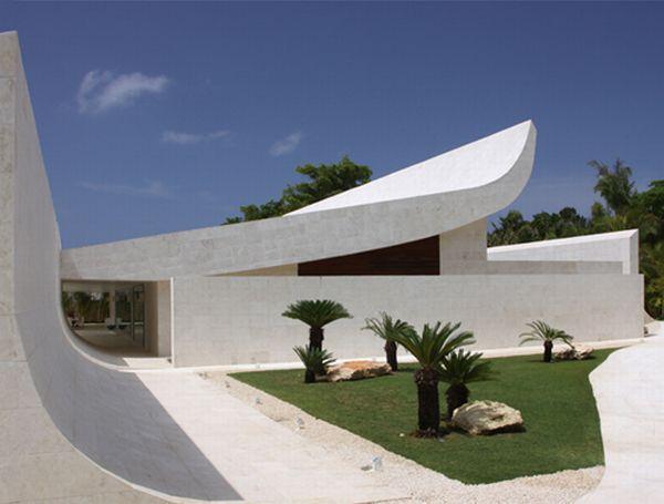 Futuristic unique White Beach Home in Dominican Republic
