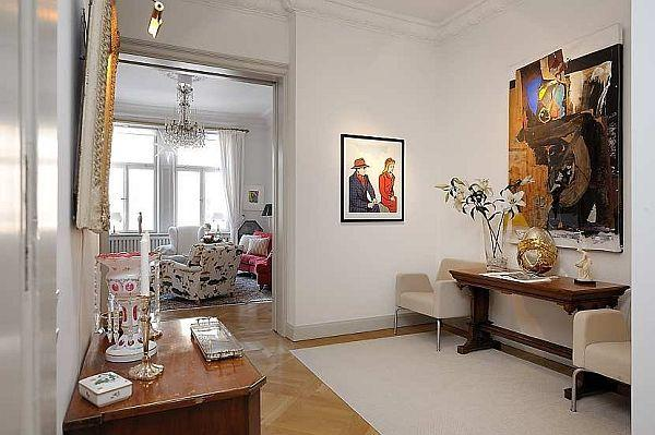 Luxurious Apartment Design with Classical Swedish Style in Stockholm