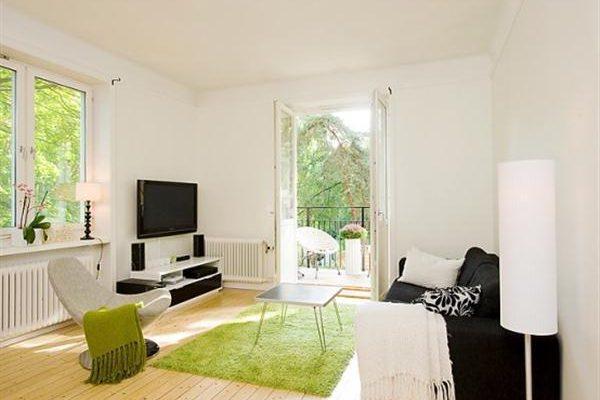 Sweden Apartment Design with Light Wooden Floor