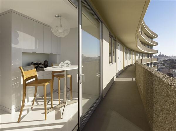 Unique Semi circular Apartment Design Inspiration in California