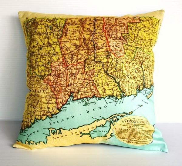 attractive Map Pillows by Bearded Pigeon