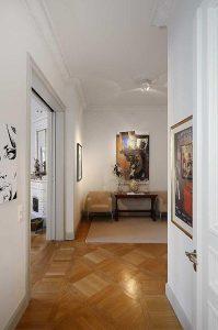 corridor decor on wonderful Apartment Design with Classical Swedish Style