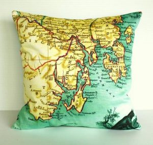 creative Map Pillows by Bearded Pigeon