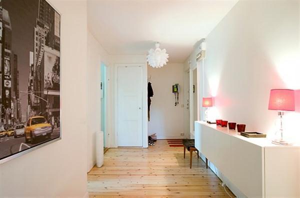 creative Sweden Apartment Design with Light Wooden Floor