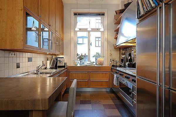 creative kitchen Design on gorgeous apartment in Stockholm