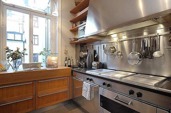 kitchen Design with Classical Swedish Style mix with modern ideas